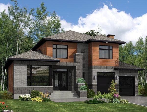 Image Result For 3 Car Garage Modern Modern Style House Plans