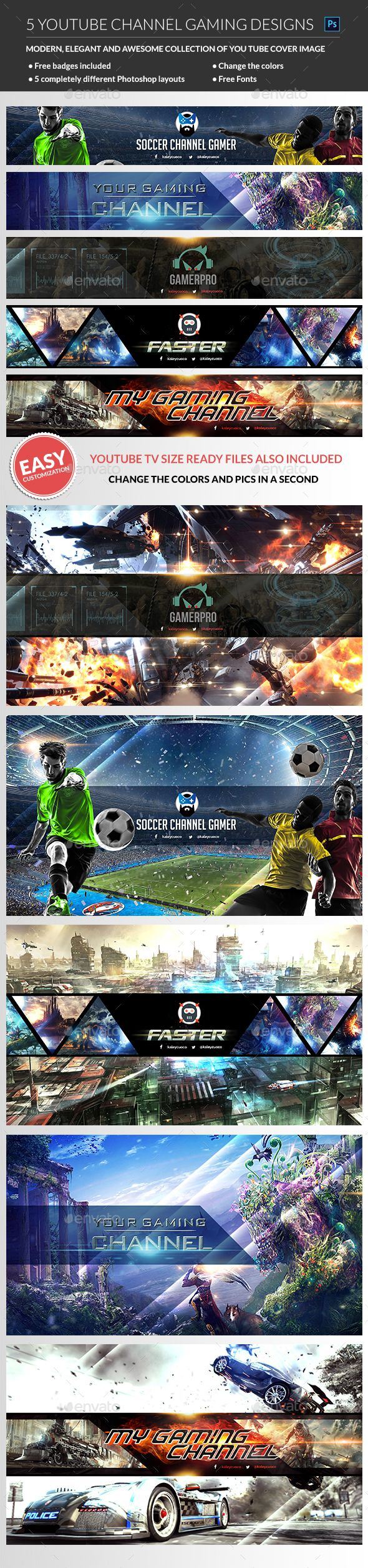 Gaming Youtube Channel Banner Youtube Social Media Social