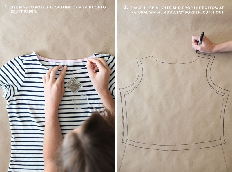 Make your own sewing pattern for a custom wrap top. Step by step ...