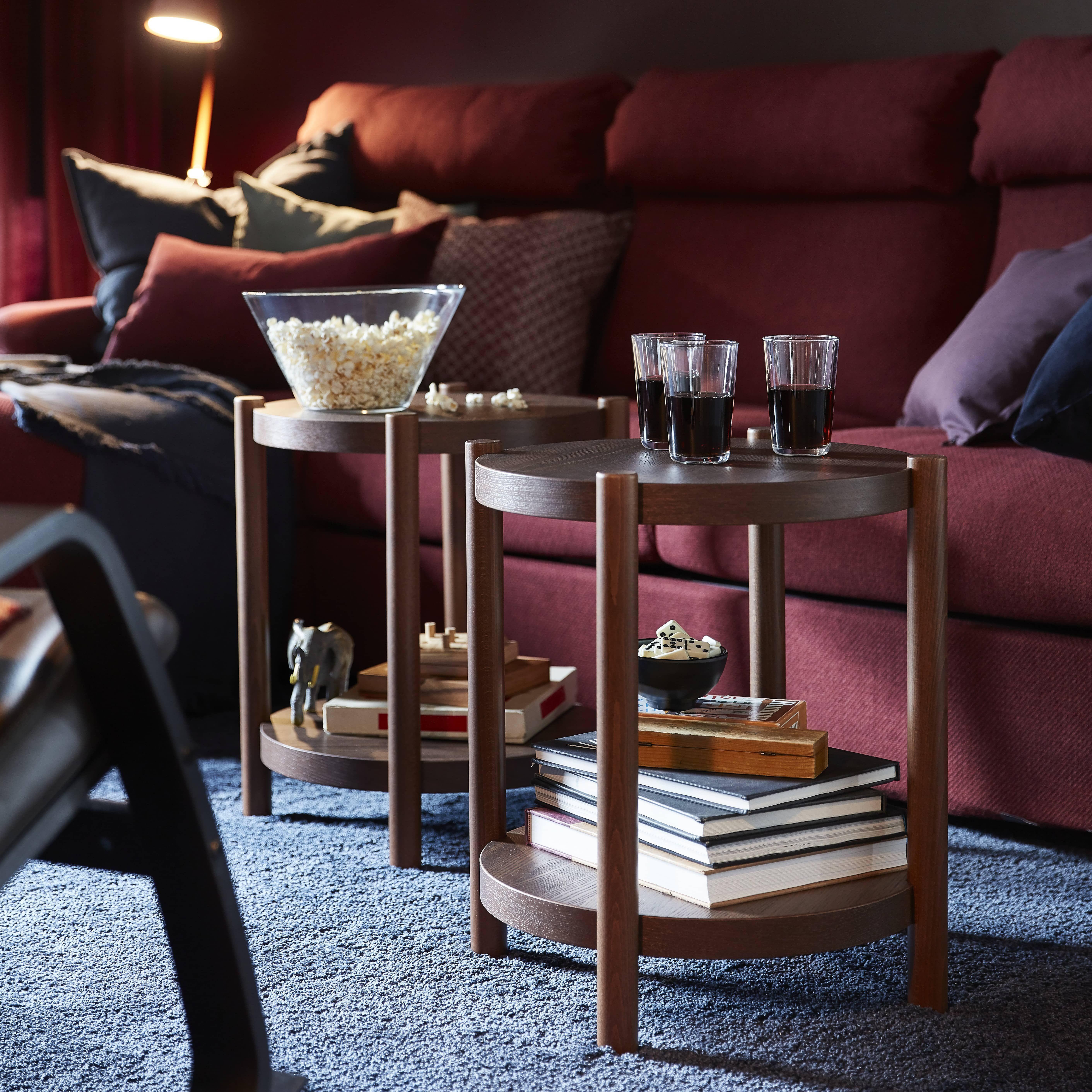 Listerby Mesa De Centro Marron 90 Cm Ikea Salon Rojo Centros De Mesa Nuevo Hogar [ 5646 x 5646 Pixel ]