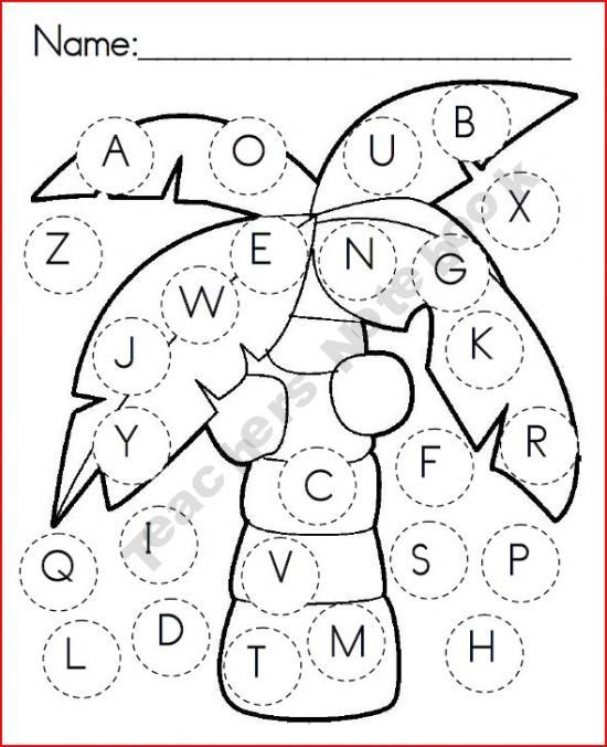 Chicka Chicka uppercase game board   Dot marker as you find the