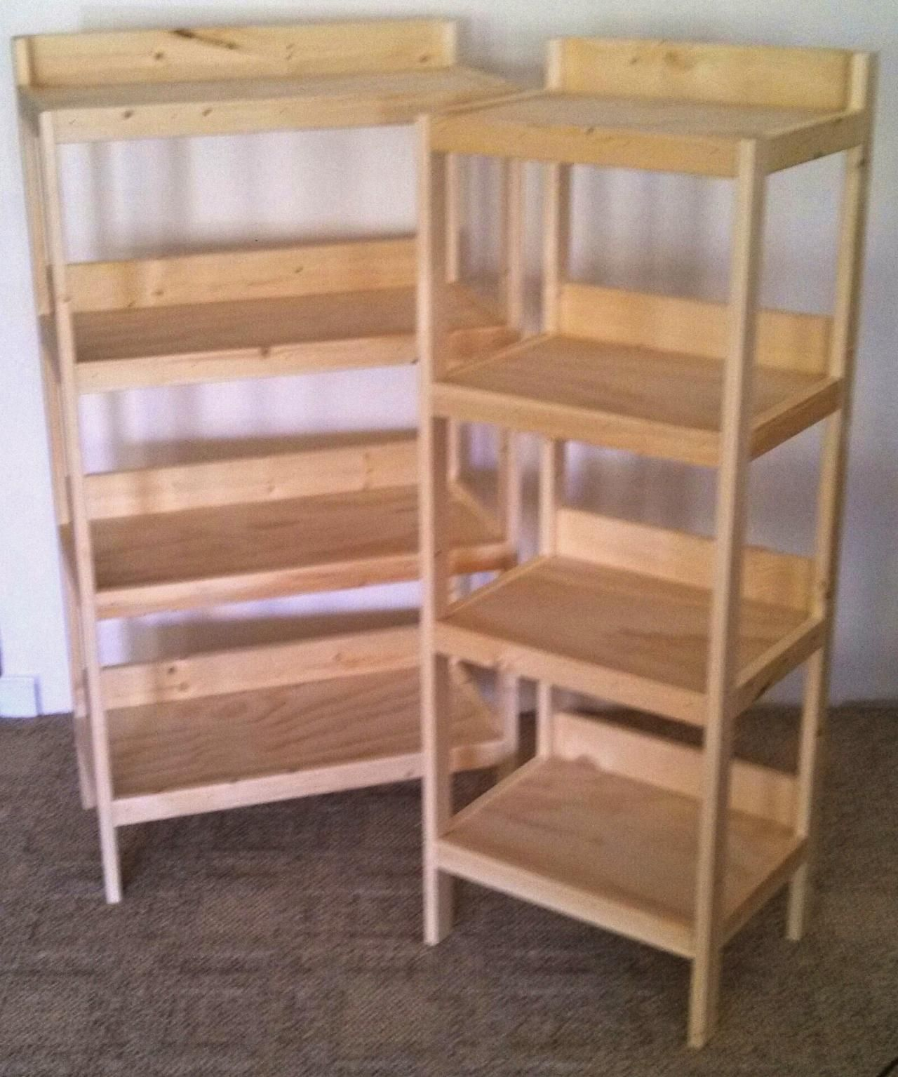 Rustic Wood Retail Store Product Display Fixtures Shelving