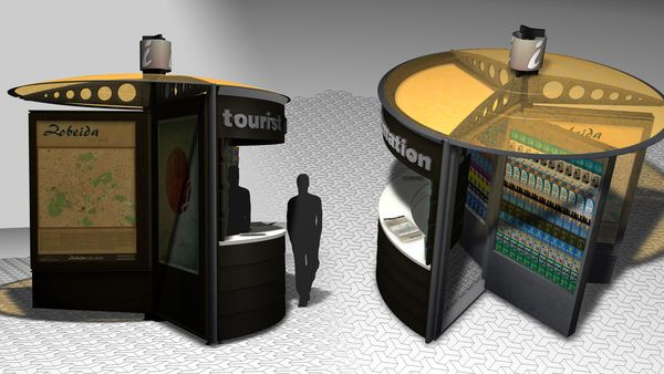 Modular YBR Information Booth Can Be Customized As Per Individual Needs