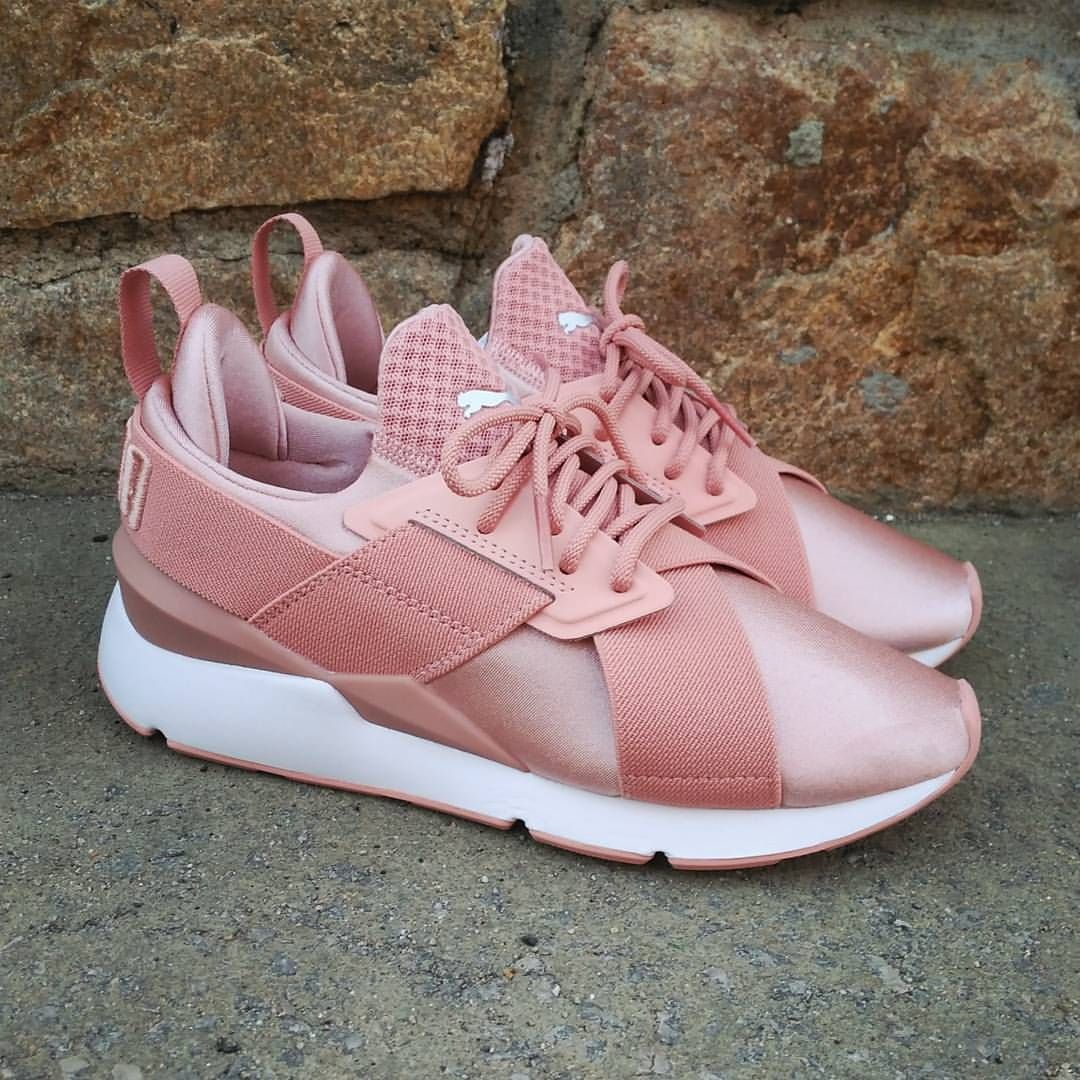 897a8db74dc8 Puma Muse Satin EP Wmns Peach Beige Size Wmns - Preci Pink Sneakers