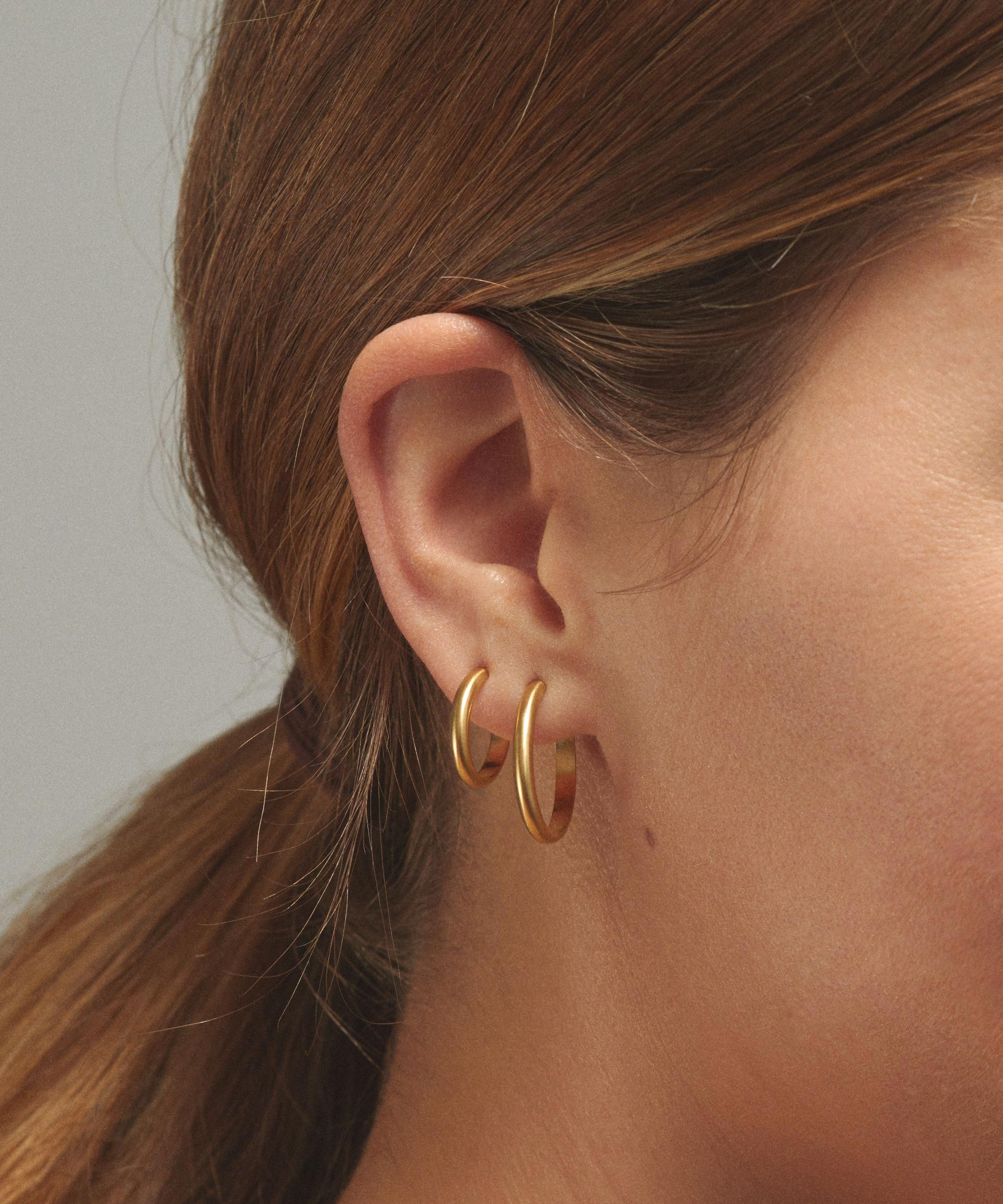 Nose piercing day 3  Versatile is it gets these hoops are an ideal daytonight staple