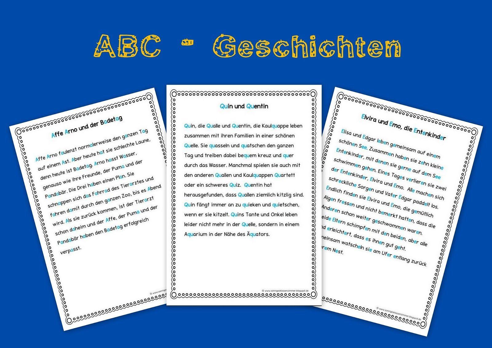 ABC Geschichten für die Buchstabeneinführung in Klasse 1 ...