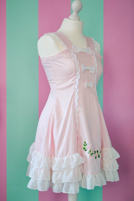 Survival Pastel Pink A Line Flower Dress 104 90 Via