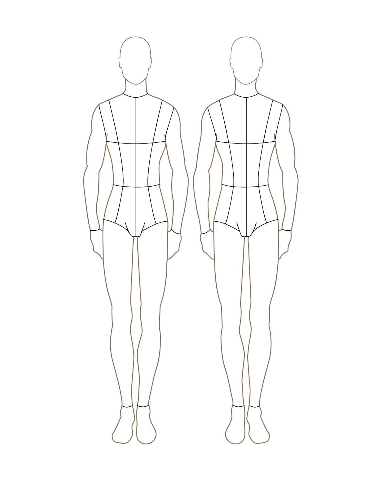 Men Fashion Figure Template Front The Back Is Also Available At The Same Page Tubuh Pria Wanita Fotografi