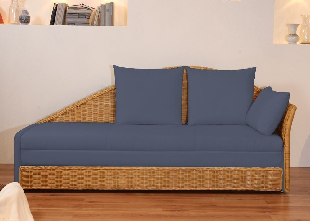 Bettsofa design  Design Schlafsofa Bettsofa Sofa Rattan Blau 2562. Buy now at https ...