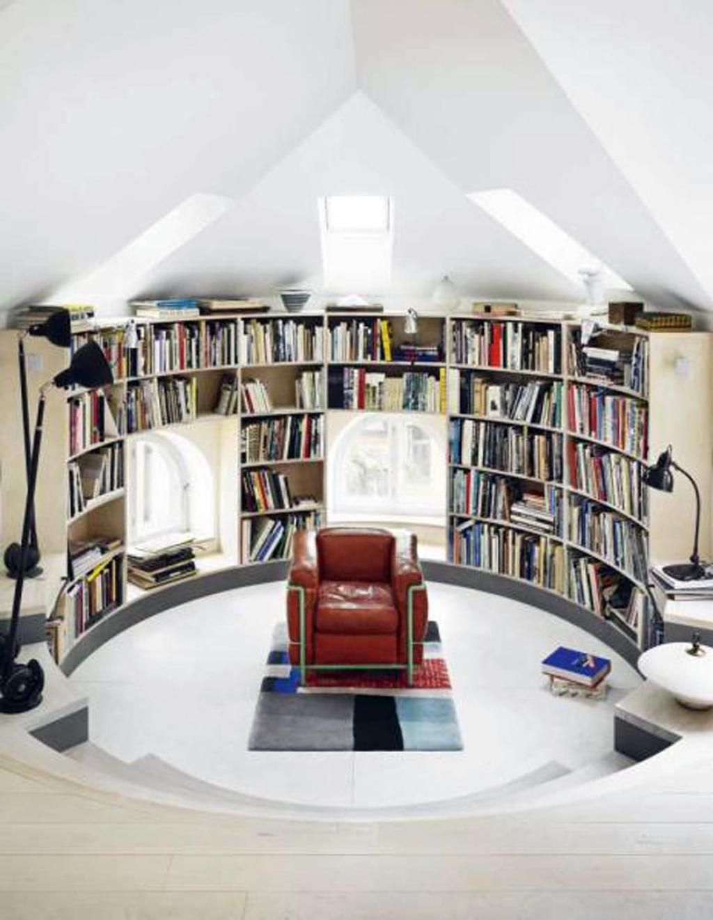 Home Attic Library Design Interior Ideas Awesome Home Library .