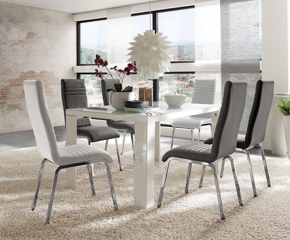 Toxi Esstisch Weiss Hochglanz 120 X 80 Cm Esszimmer Tisch