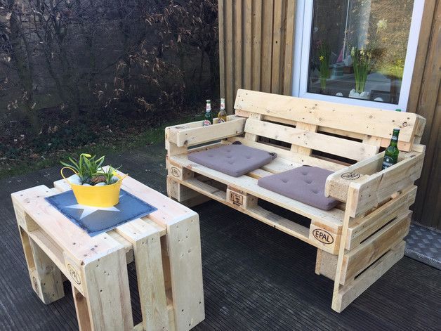 Gartensofa aus Paletten Pallets, Pallet sofa and Pallet furniture