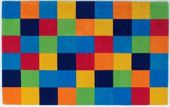 Around Multi Colored Squares Kids Area Rug Decorating Ideas