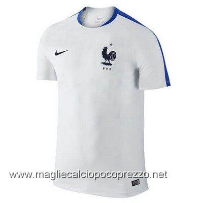 Nuova maglie calcio 2016 per maglia Allenamento Francia bianco 2016