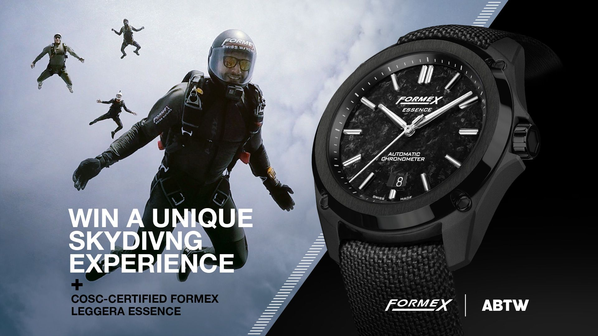 GIVEAWAY Go Skydiving With Your New Formex Essence