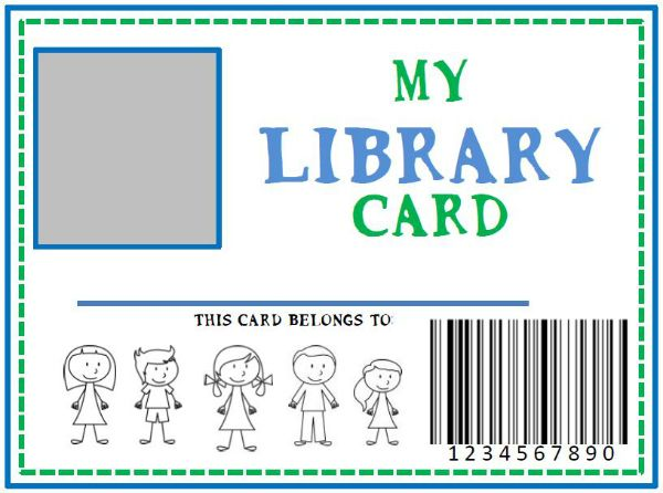 Family Library  Diy Pretend Library Card She Kristina  Library
