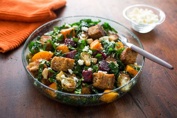 'Panzanella of Plenty': Panzanella is a Tuscan summer bread salad, often made to use up stale bread. The typical panzanella consists of chunks of stale bread and tomatoes, cucumbers, onion and basil, dressed with olive oil and vinegar.