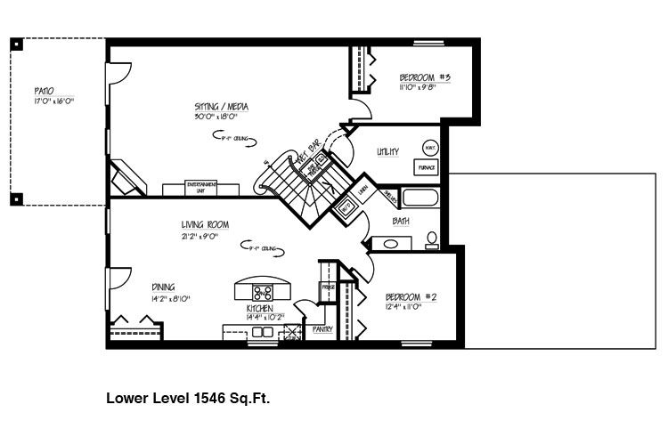 Ranch House Floor Plans With Basement Finished Basement Floor For Ranch Floor Plans With Walkout Basement Basement House Plans Floor Plans Shop House Plans