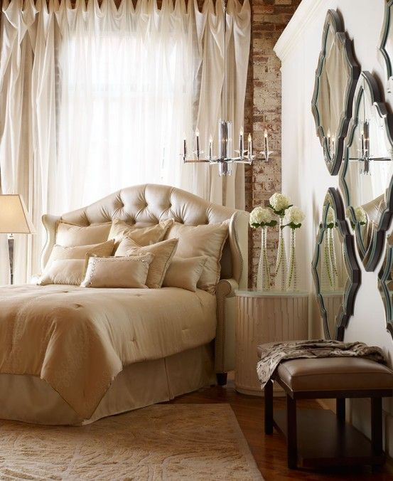 20 Romantic Bedroom Ideas In A Stylish Collection: An Example Of My Design Style- Pared Down Lines With A Nod