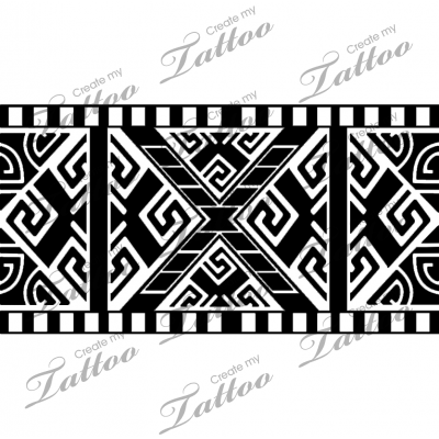 Marketplace Tattoo Aztec Armband #20493 | CreateMyTattoo ...