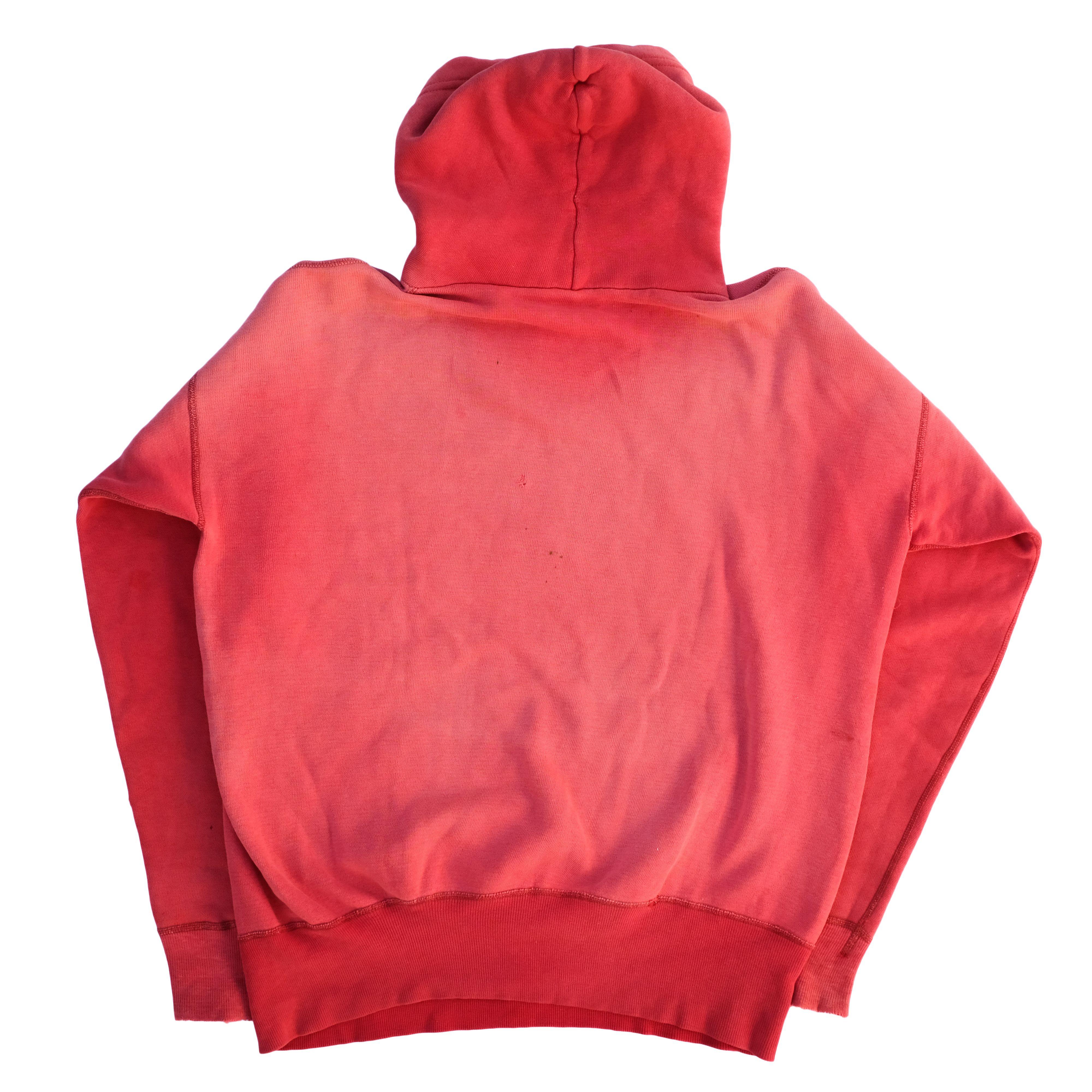 Vintage 50s 60s Sunfaded Red Hoodie Hoodies Red Hoodie Vintage Hoodies