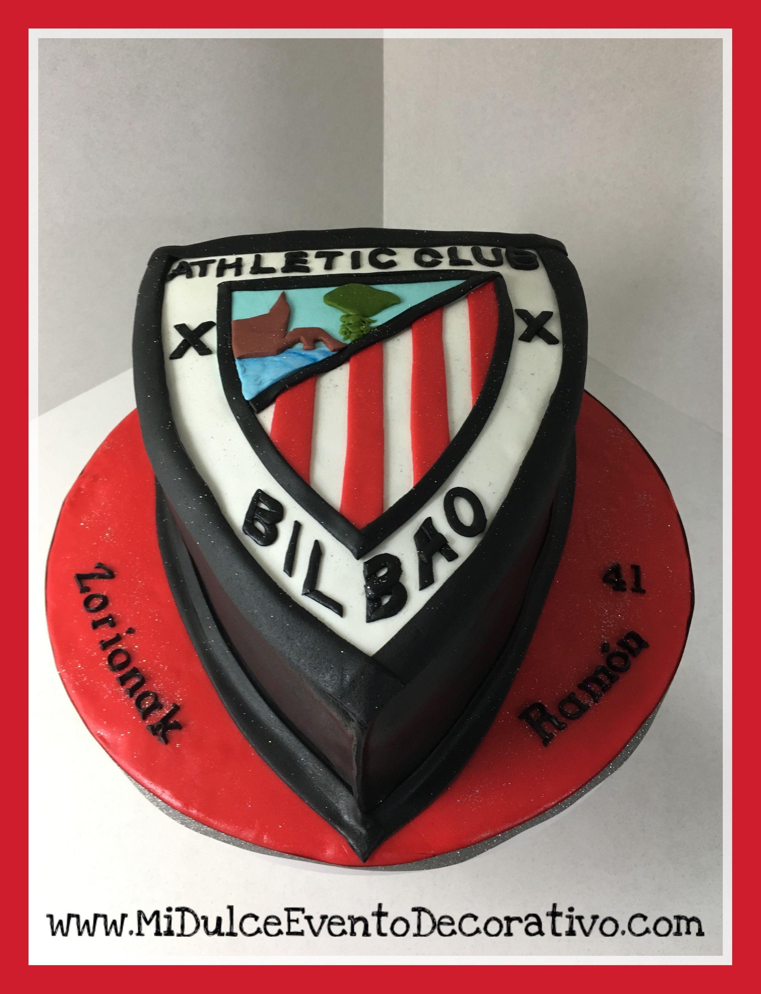 Tarta de fondant del escudo Athletic Club de Bilbao. Encuentra este Pin y  muchos ... dbcb29181cf66