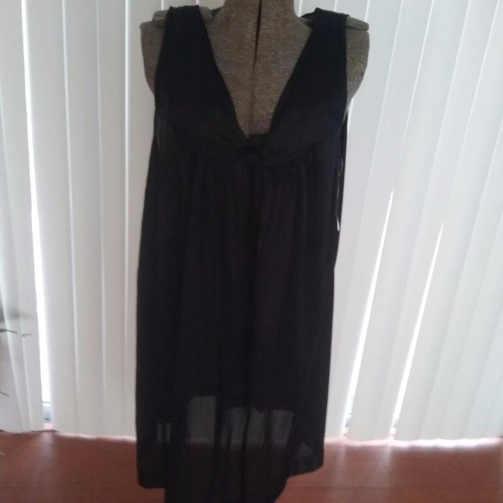 Vanity Fair 30807 Women's Coloratura Sleepwear Short Gown Black plus size 1X NWT #Vanityfair #Gowns #Everyday