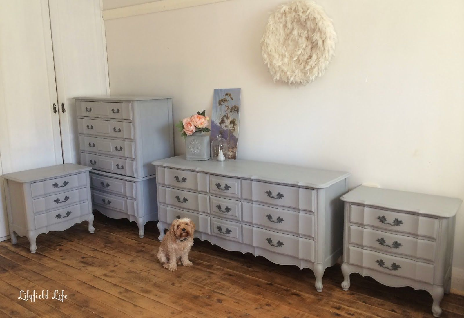 ASCP Paris Grey French Style Bedroom Furniture Furniture