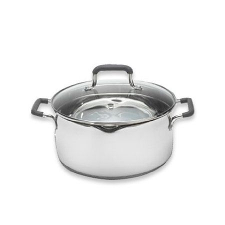 Pedrini 5040392 5 Quart Cook and Drain Stainless Steel Dutch Oven