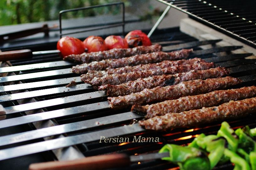 Kabob Koobideh Grilled Minced Meat Kabobs Recipe Kabobs Persian Food Grilling Kabobs