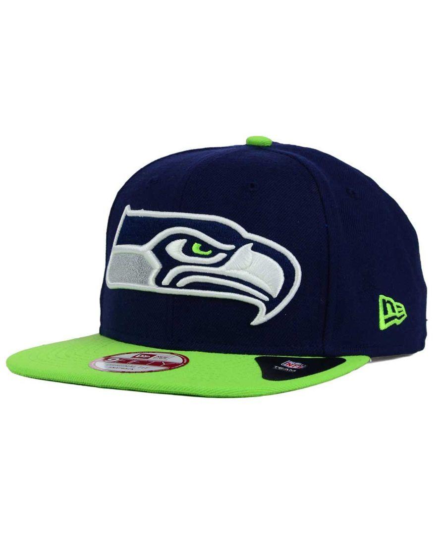 New Era Seattle Seahawks Classic Xl Logo 9FIFTY Snapback Cap ... 2acd1e10f550