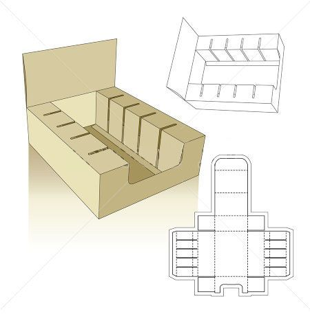 set up displays carton box template packaging pinterest