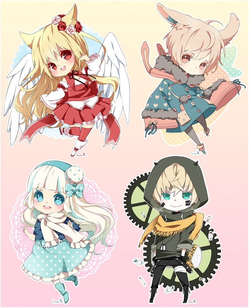 Chibi commission batch05 by inma on deviantART (With