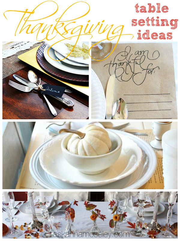 Thanksgiving table setting ideas - Ask Anna