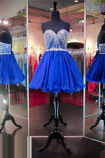 Royal Blue Prom Dressshort Prom Dressjunior Prom Dresscheap Prom