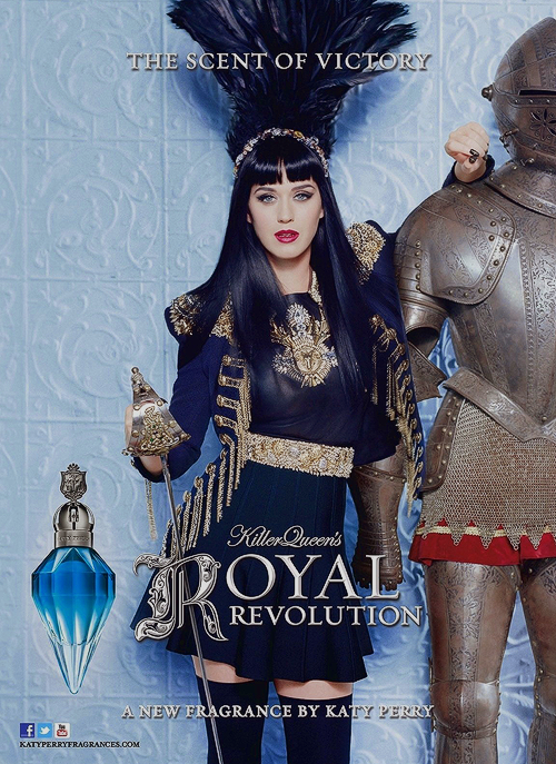 "Parfum femme, katy perry new fragrance ""royal revolution"""