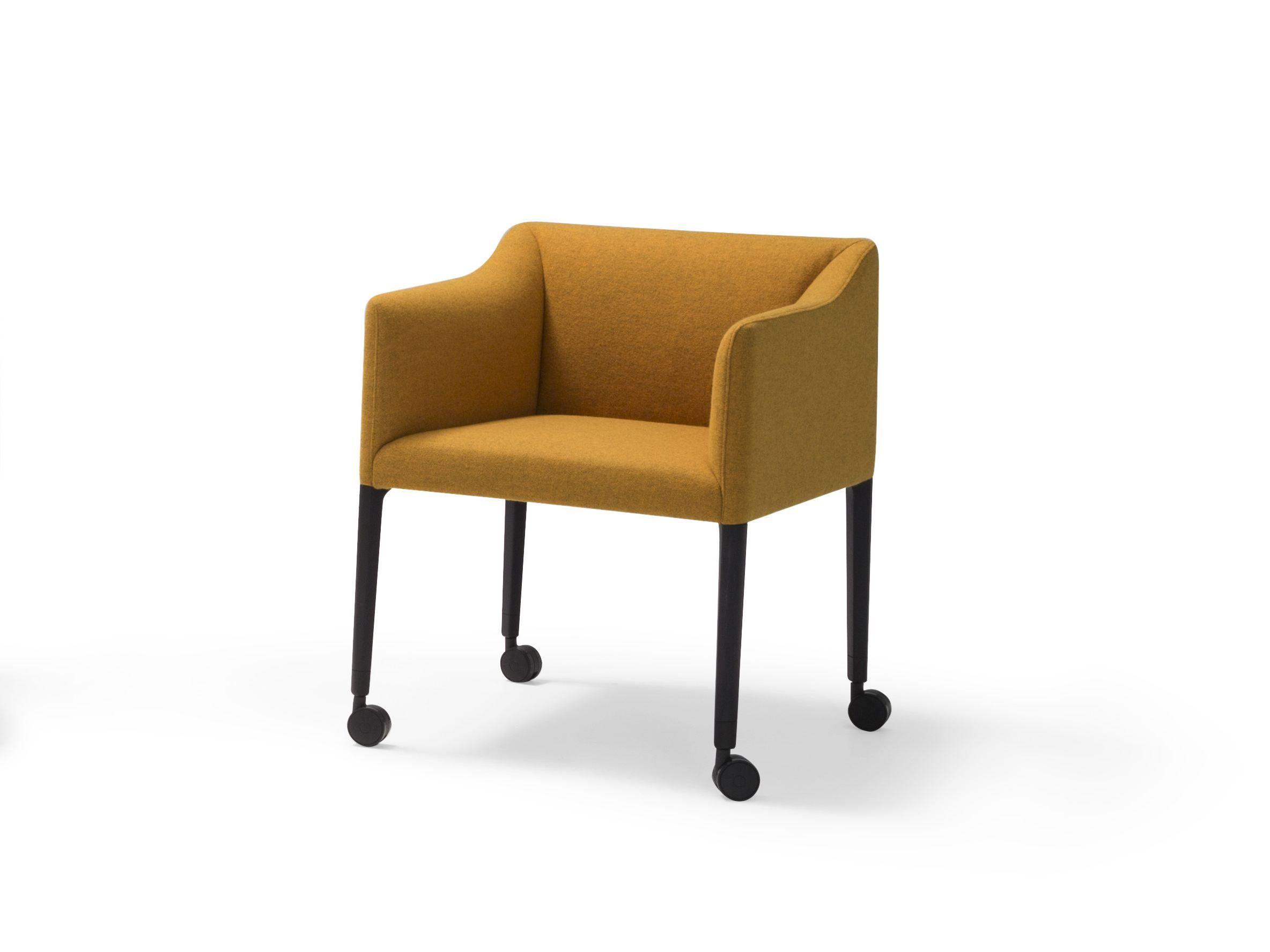 CouvÉ sedia con ruote collezione couvé by andreu world design