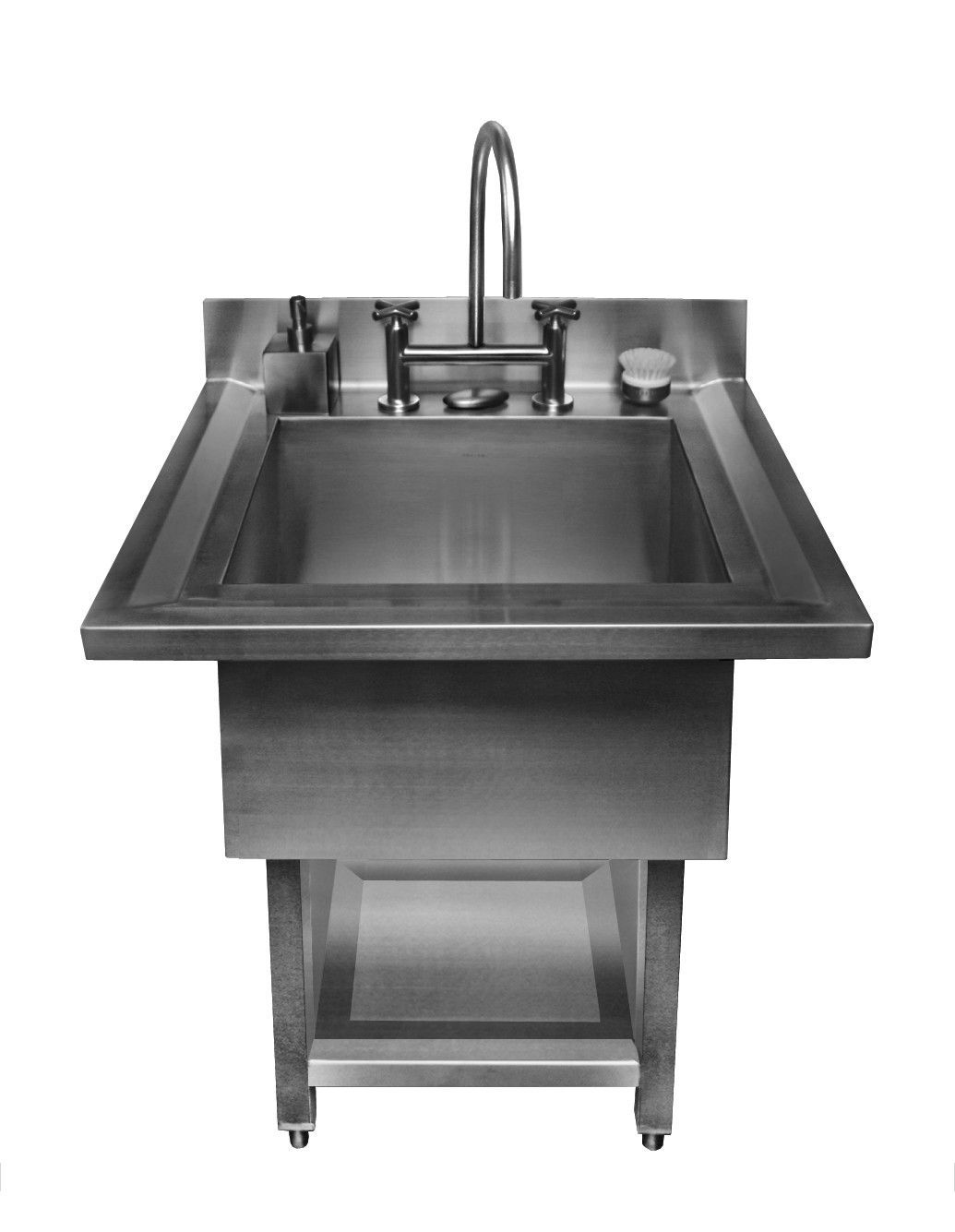 Urbanedge Pedestal Single Bowl 34 X 33 Utility Sink Utility