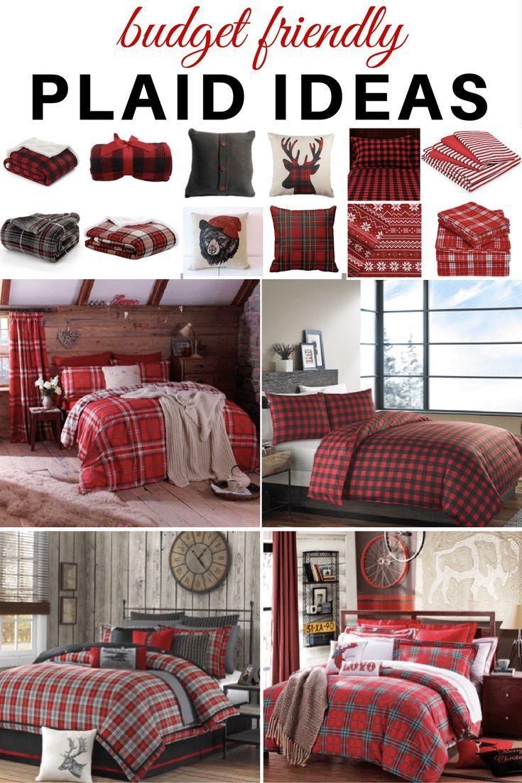 Plaid Ideas Bedroom Plaid Bedroom Home Decor Bedroom Bedroom Design Red plaid bedroom ideas