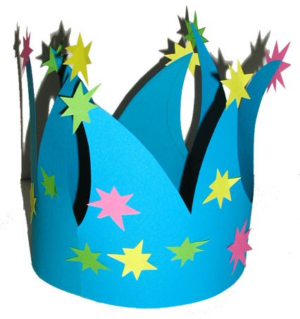 Couronne de princesse ou de prince à granes pointes - Tête à modeler