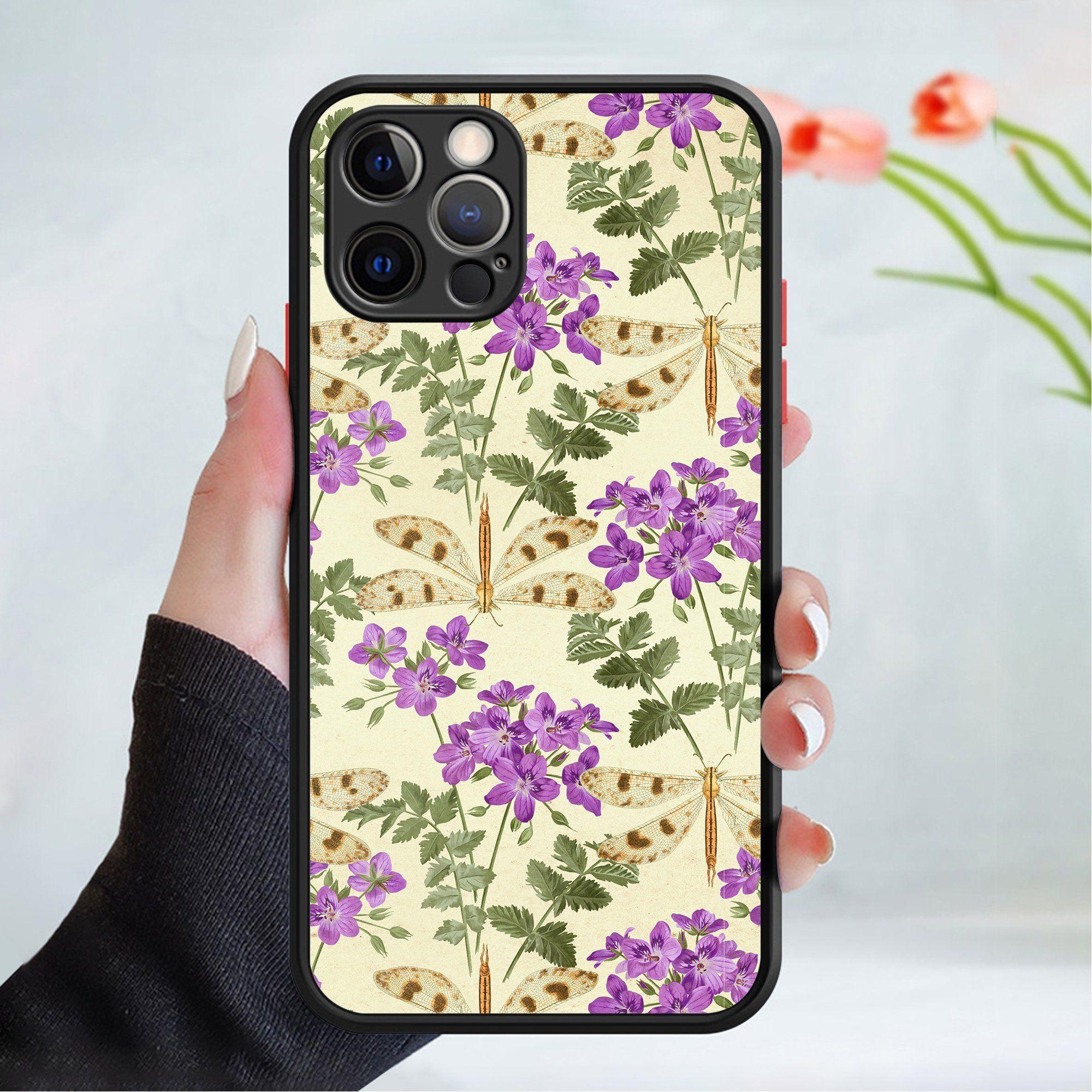 530+Flower wallpaper phone case cover 202 Black Apple Models Only   5