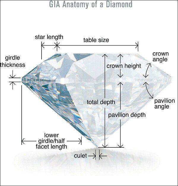 Anatomy of a diamond | Studio talk | Pinterest | Anatomy, Diamond ...