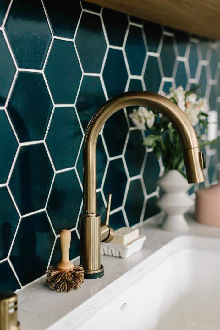 Photo of Wit & Delight Kitchen Backsplash | Fireclay Tile