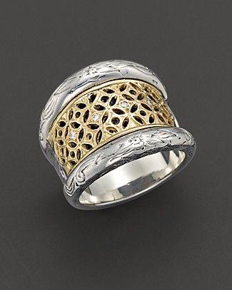 Konstantino Lattice Diamond Ring UwvaNXW