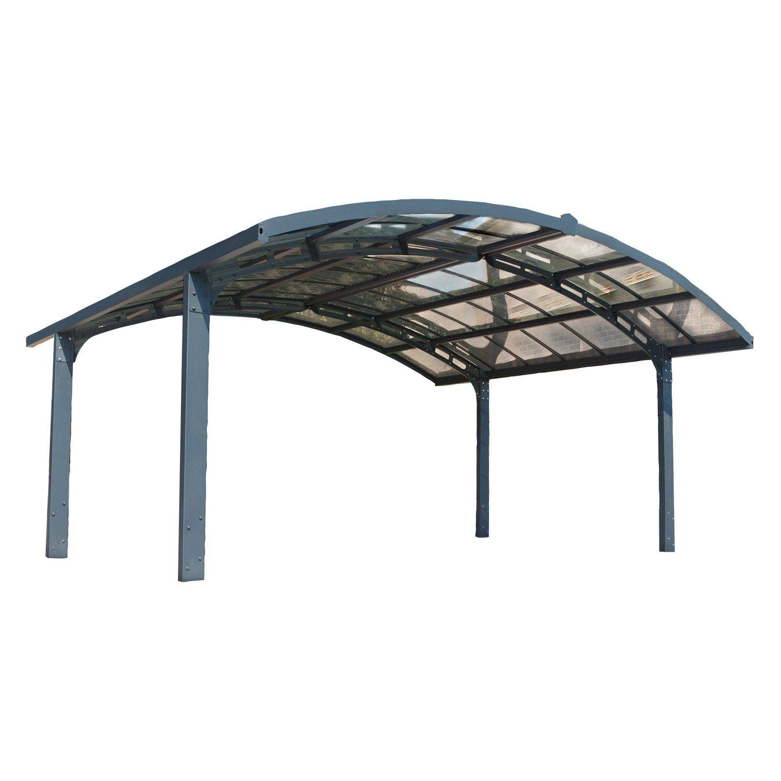 Palram Arizona Breeze 19 X 16 Ft Arch Style Double Carport Double Carport Polycarbonate Roof Panels Carport