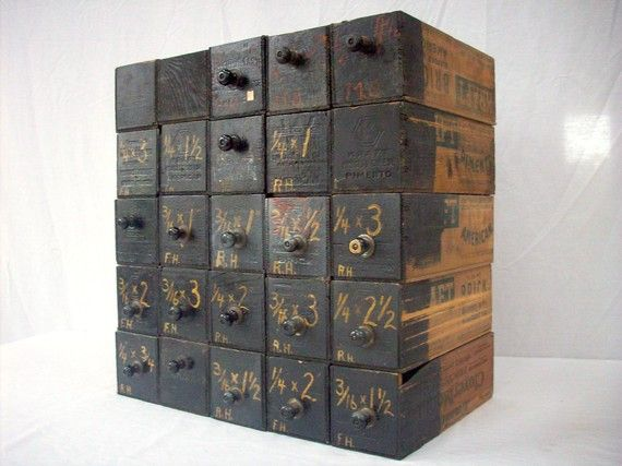 Vintage Printed Wood Cheese Boxes Hardware Storage By Urgestudio Cheese Box Old Wooden Boxes Hardware Storage