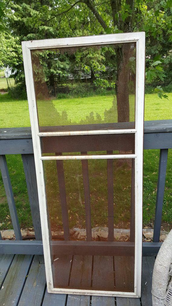 Photo Booth Prop, Wood Screen Window, Three Pane Window, Old Screen ...