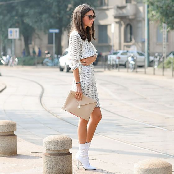 summer. white boots