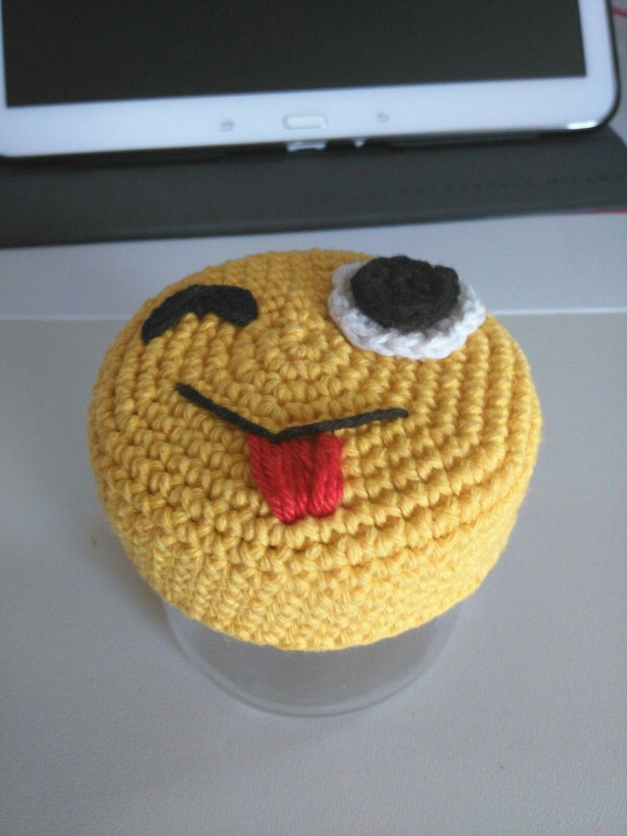Emoji Potje Deksel Haken Pottenbewerken Pinterest Crochet