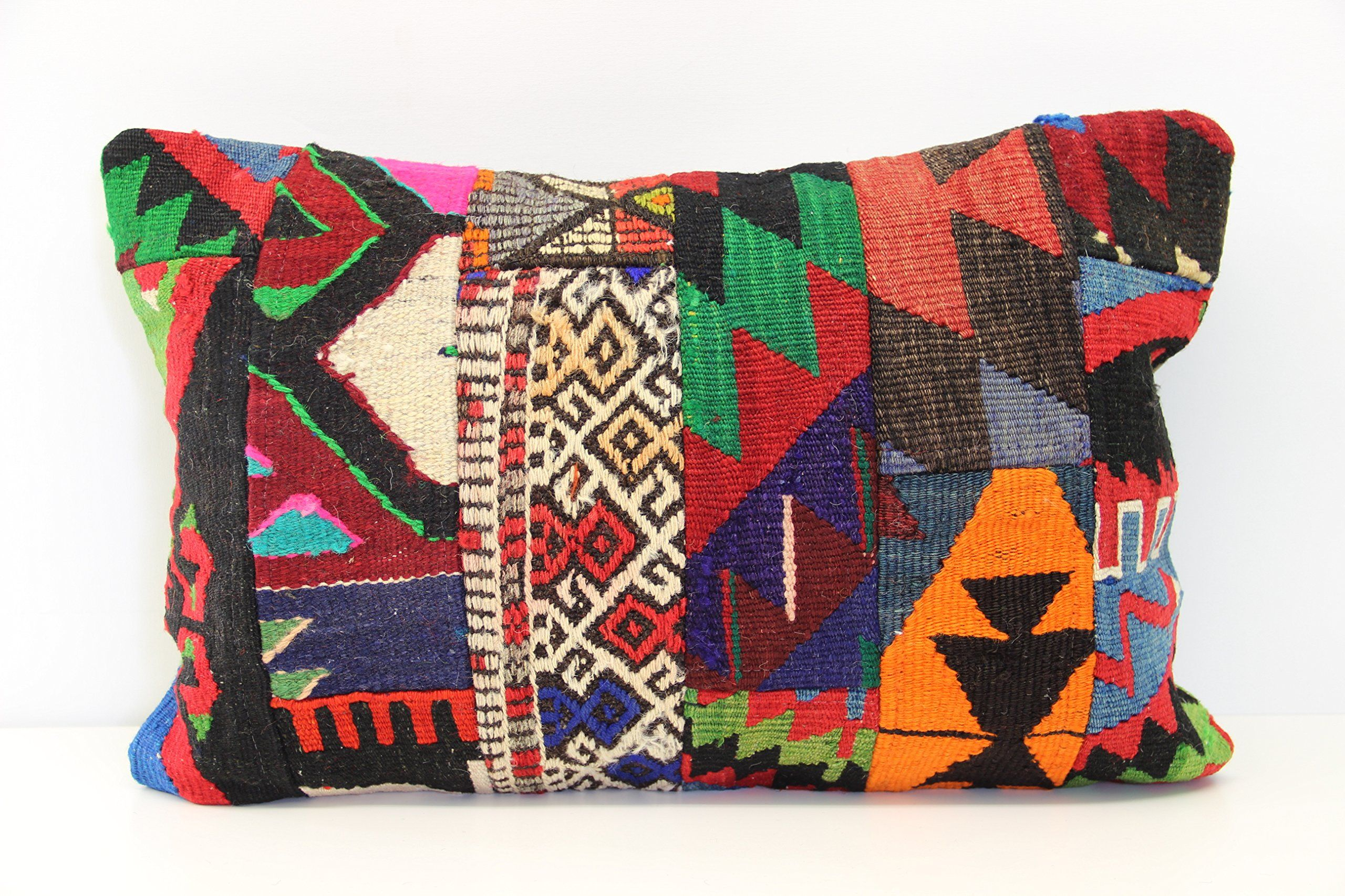 Patchwork kilim pillow cover x inch x cm traditional